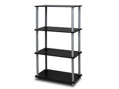 Turn-N-Tube 4-Tier Shelf  Black/Grey