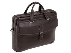 """Como Leather Medium 15.4"""" Laptop Brief"""