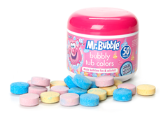 Mr. Bubble Bubbly Tub Colors 50-Count