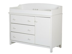 Cotton Candy Changing Table, Pure White
