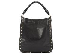 KC Stud Sense Hobo Leather Bag, Black