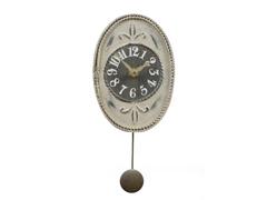 Antique White Oval Mini Pendulum Clock