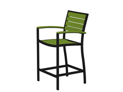Euro Counter Chair, Black/Lime