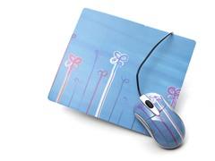 Doodle Flowers Mousepad Set