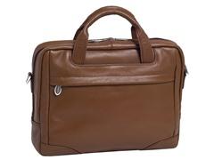 "Bridgeport Leather 17"" Laptop Brief"