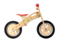 Floral Wooden Balance Bike
