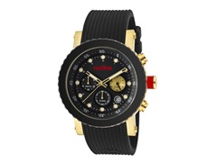 Gold Tone with Black Silicone Band