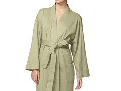 Organic Cotton Jersey Knit Robe- Sage Green