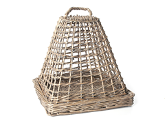 "Galt Willow Cloche with 11"" Square Base"