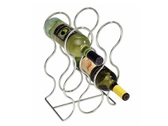 InterDesign Classico Chrome Round Wine Rack