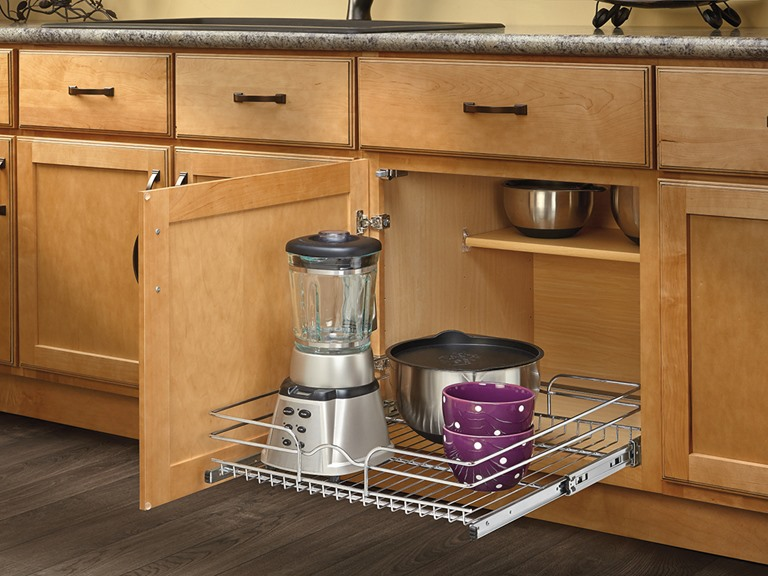 Extra Large Chrome Pullout Basket, 20.5