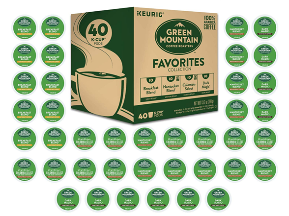 Green Mountain Variety Pack Favorites 40 K Cup Pods