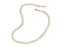 18 kt Gold Plated SS Italian Circle Link Chain