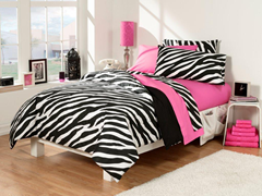 30-Piece Twin XL Bed/Bath Set - Pink