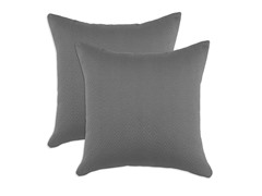 Hyannis Graphite 17x17 Pillows - Set of 2