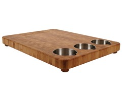 Totally Bamboo 3 Bowl Prep Cutting Board