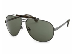 Women's Sunglasses Antique Silver/Dark Green