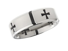 7mm Cross Titanium Band