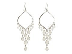Relic RJ2336041 Silver Earrings w/ Dangling Stones