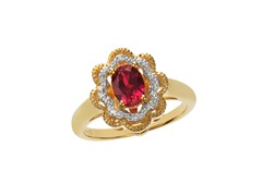 14kt Gold Plated Diamond Ring