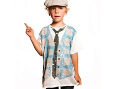 Faux Plaid Tee (Sizes 4-6)