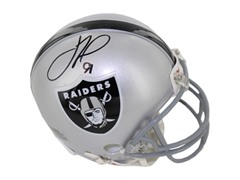 Justin Tuck Signed Oakland Raiders Mini