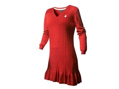 Beverly Hills Polo Cl Sweater Dress, Red