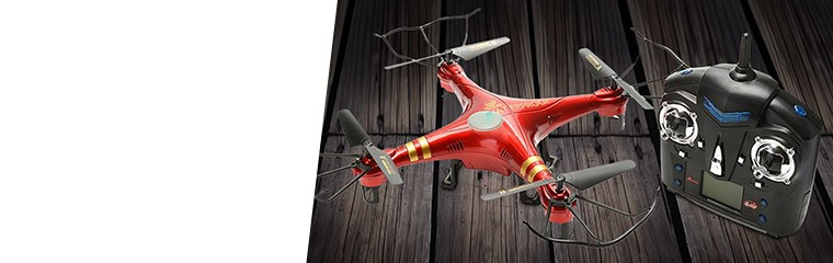 2.4GHz Four-Chan Waterproof Quadcopter, Red