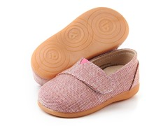 Squeaky Shoe - Sam, Pink Tweed (3-8)