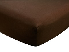Chocolate Brown Crib Sheet
