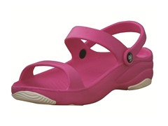 Youth 3-Strap Sandal - Hot Pink/White