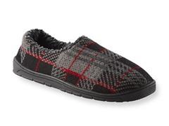Tom Plaid Full Foot Slipper, Red