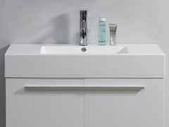 "36"" Midori: Single Sink Bathroom Vanity- White"