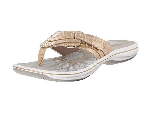 4a0523551e4102 CLARKS Women s Brinkley Keeley Flip-Flop