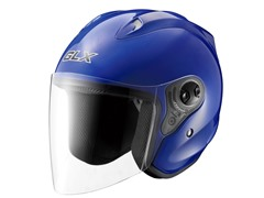 Open Face Motorcycle Helmet - Blue