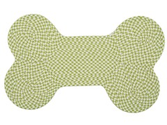 Lime Dog Bone Houndstooth Rug - 3 Sizes
