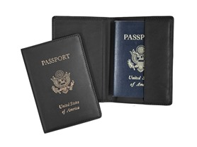 ROYCE RFID Blocking Passport Holder