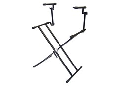 Two Tier Double X Braced HD Keyboard Stand