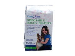 ClearQuest Disposable Doggy Diapers-Large 10-Count