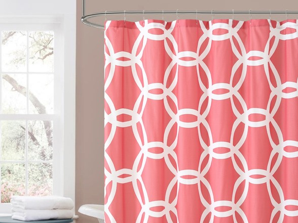 Honey Embossed Shower Curtain 3 Colors