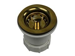 Basket Strainer, Polished Brass