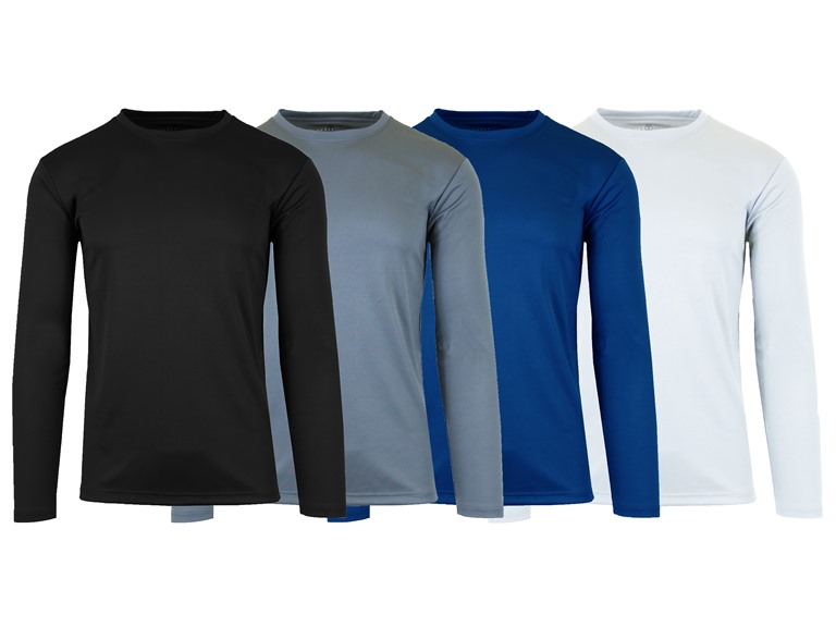 GBH 4 Pack Mens Moisture Wicking L/S Tee