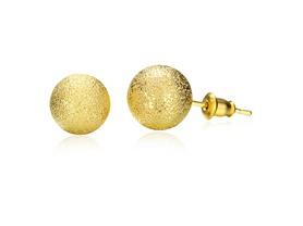 18K Gold Shimmering Ball Studs