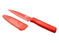 Serrated Paring Knife Colori Red