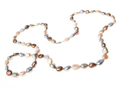 "36"" Multi Colored Pearl Necklace"