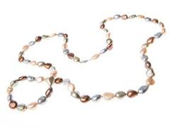 """36"""" Multi Colored Pearl Necklace"""