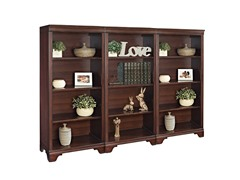 "55"" Tall Four-Shelf Bookcase Wall"