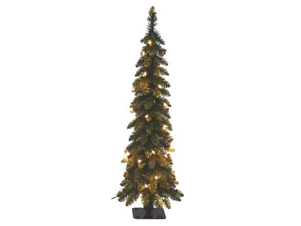 Pre Lit 4 Pencil Slim Christmas Tree