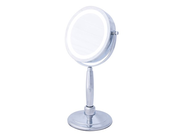 5x 2 In 1 Hand Held Mirror Chrome