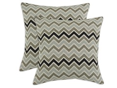 Zoom Zoom Stone Denton 17x17 Pillows-S/2